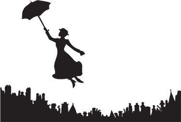 Sticker decorativo Mary Poppins