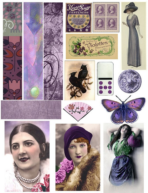 Free Collage Images by Mary Watkin of PaperScraps... Please see her artwork, it's very whimsical!