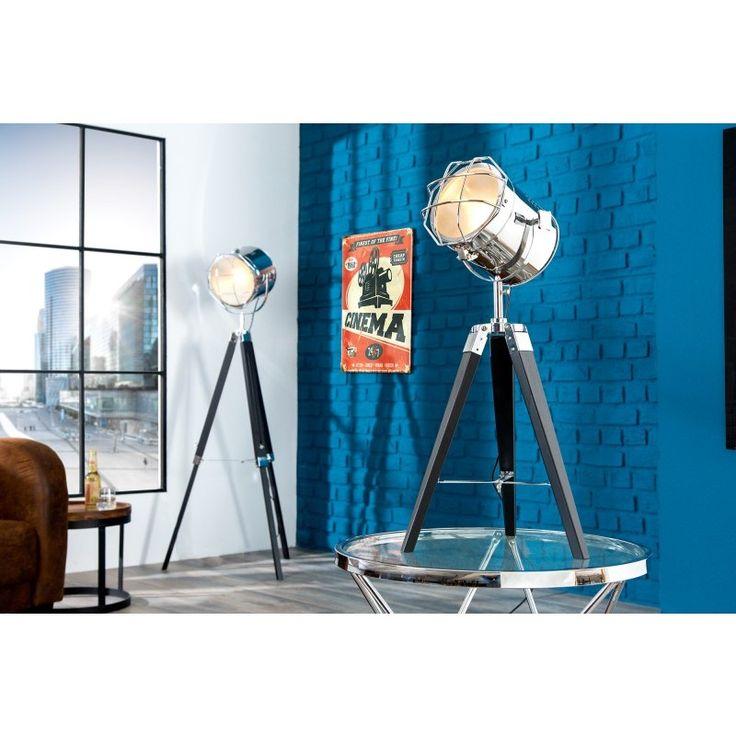 Vloerlamp Tripod 65cm chroom/zwart - 36841