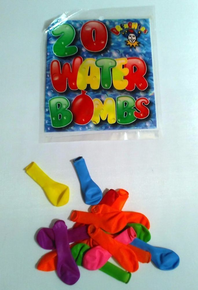 40 Water Bombs Bright Colour Balloons Kids Summer Party Fun Toys Stocking Filler #HENBRANDT #AllOccasions