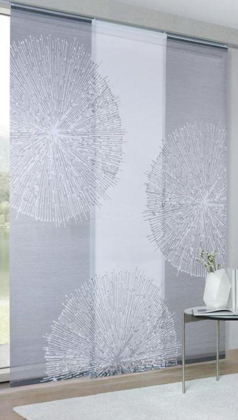 FlÄchenvorhang In Grau Flächenvorhang Fenster Dekor
