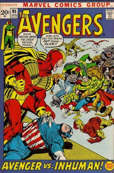 Cover for The Avengers (Marvel, 1963 series) #95