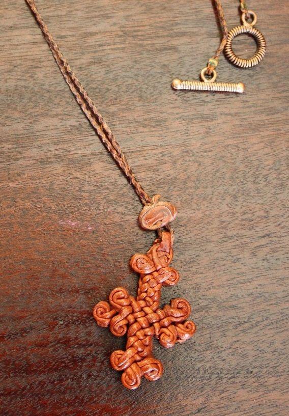 Ethiopian Handwoven Cross Necklace Dark Brown от PurpleMoonCraft