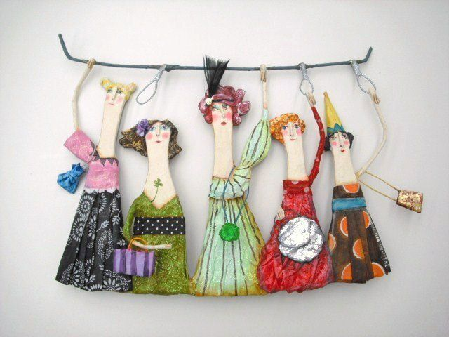 paper mache art dolls pretty little designs that could be used for an art installation or created for a splendid form of christmas decoration