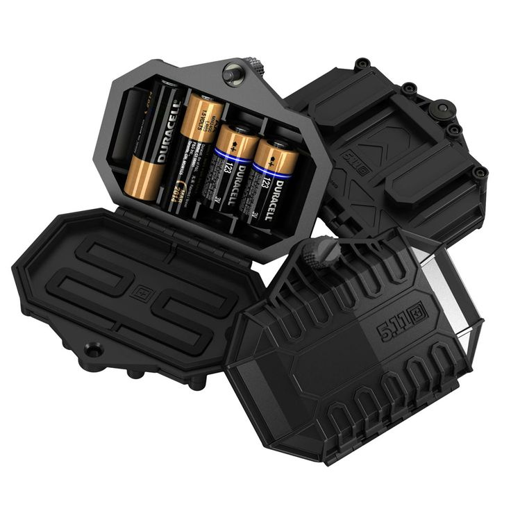 Tactical battery case (AA and CR123). Attaches to MOLLE straps. $19.99