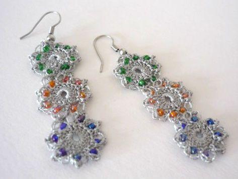 crochet jewelry | Etsy Crochet: Dangly Crochet Earrings — Crochet Concupiscence
