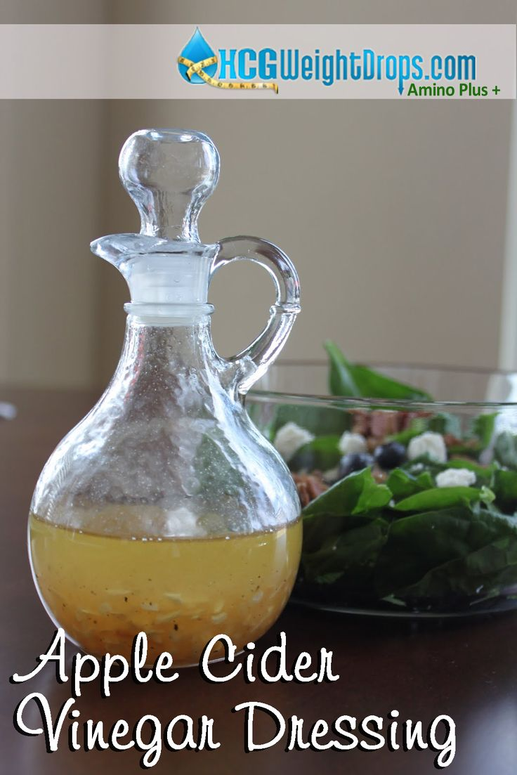 Apple Cider Vinegar Dressing (also a great marinade for meat & vegetables) 2/3 cup unfiltered apple cider vinegar 1/3 cup lemon juice Add to taste: salt & pepper, dried shallots, garlic powder, onion salt, chives, dried cilantro, parsley, basil KAL clear stevia drops, to taste (start with 1 dropper full and add as desired)  Combine and refrigerate.