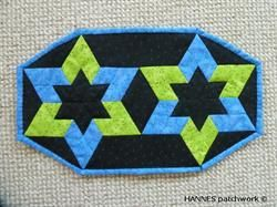 Berit Dækkeservietter har mønster A3 ark nr 472 er et Pedari patchwork mønster
