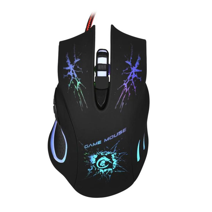 Adroit 2016 New HOT 5500 DPI 6D LED Optical USB Wired Game Mouse For PC Laptop Gaming Black Color May16 drop shipping #men, #hats, #watches, #belts, #fashion