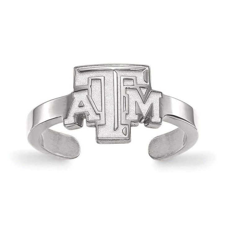 Sterling Silver LogoArt Texas A&M University Toe Ring