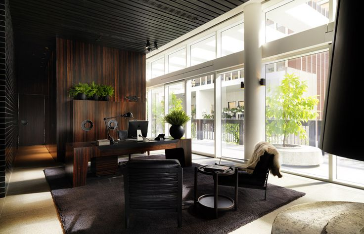 Merivale Offices. Amazing Macaser Joinery!  August 4, 2011    Within the multi-layered entertainment precinct of The Ivy in Sydney is the corporate heart of Merivale, which delivers a mid-century aesthetic on a more domestic scale.  Photographer: Trevor Mein  Author: Gillian Serisier  Designer: Hecker Guthrie  Architect: Woods Bagot