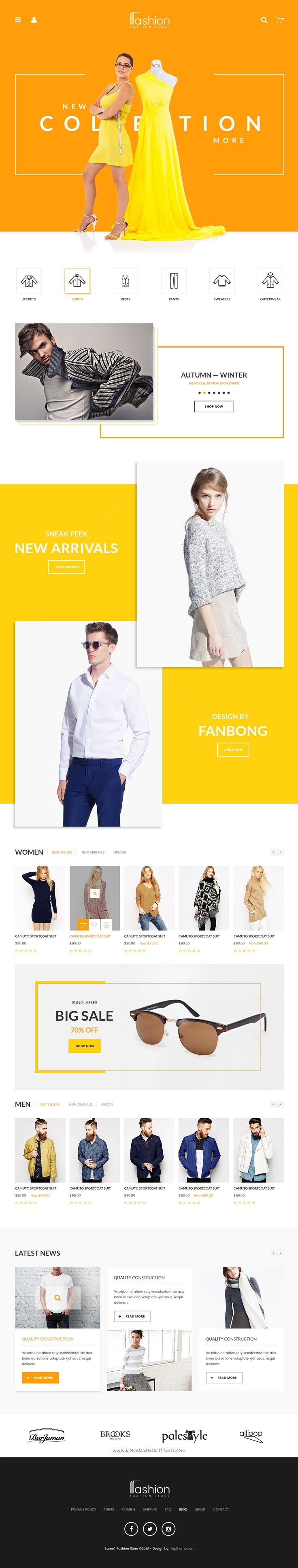 Fashion Store is amazing premium #PSD Template for multipurpose #eCommerce…