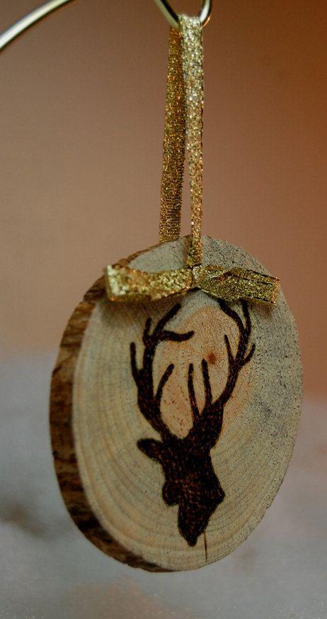 Ornamenti di Natale di fetta di legno | Etsy