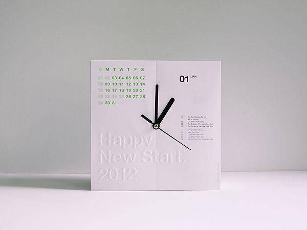 年曆與時鐘的完美結合   MyDesy 淘靈感