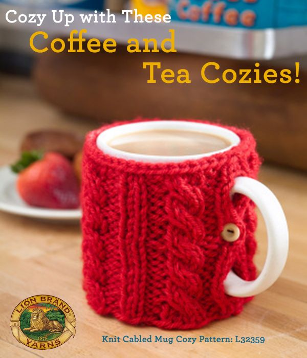 Lion Brand Ambassador Shira loves tea. Check out some of her favorite mug cozies to knit and crochet!