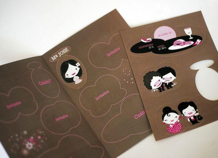 EN STICKER  (Invitación personalizable)  Incluye:1 Invitación con medidas 20x14 cm plegada y 1 inserto de sticker