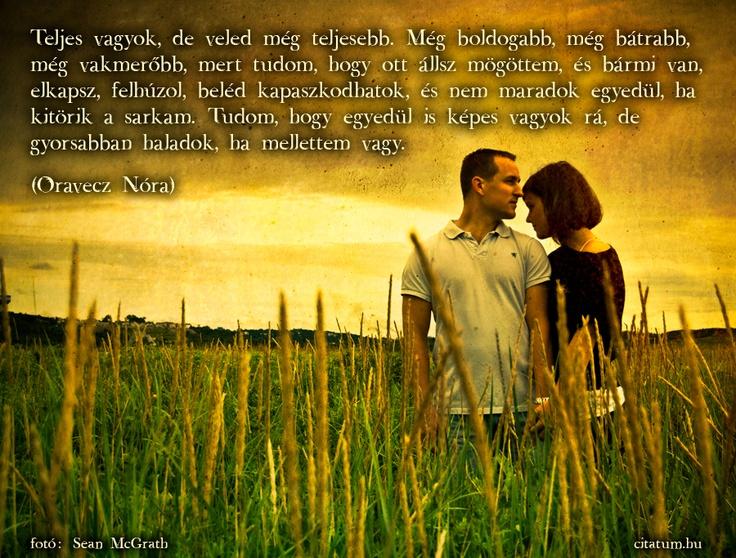 A hét idézete április első hetében Oravecz Nóra Facebook oldaláról.