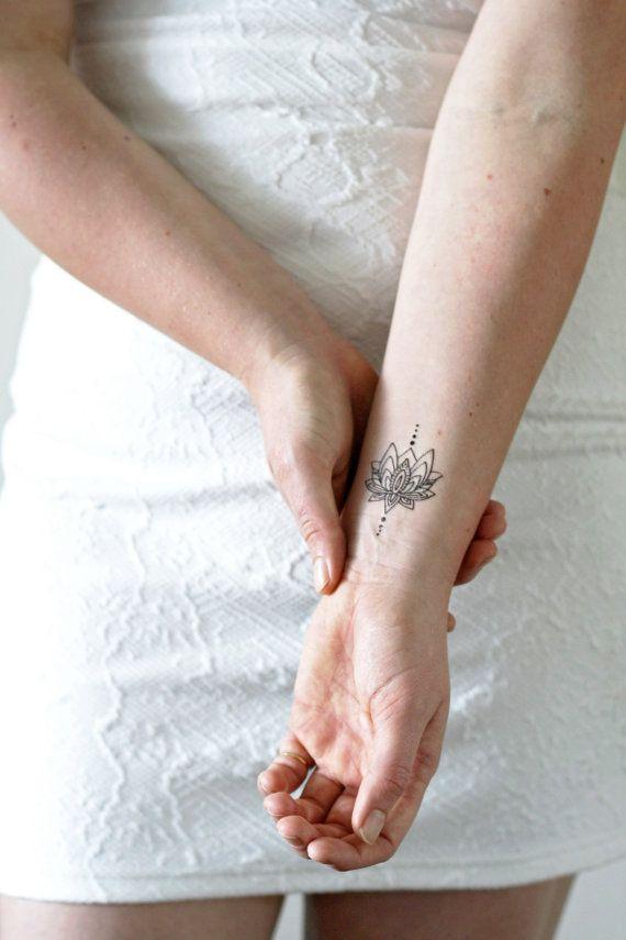 Tatuaggio temporaneo piccolo loto / tatuaggio temporaneo