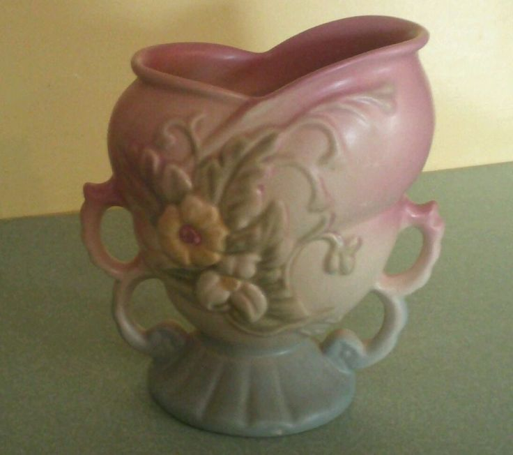 Vintage Hull Art Pottery Usa Wildflower Vase W 5 6 1 2 Double Handle Lovely Sale Home