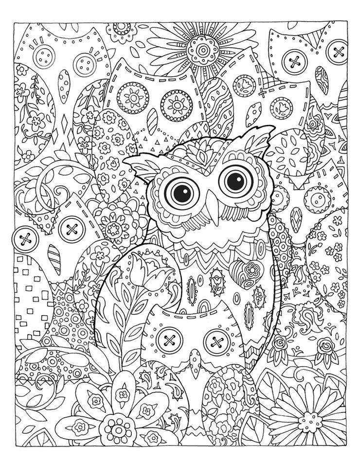 """Creative Haven Owls Coloring Book by Marjorie Sarnat, """"Hidden Hoots"""""""