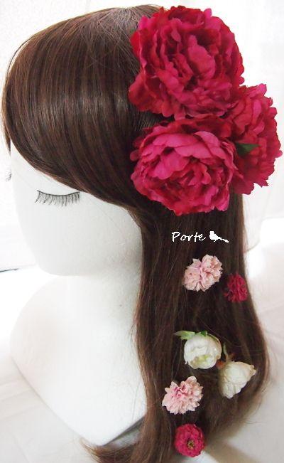 鮮やかなピンクの芍薬の花飾り |Wedding Flower・ぽると のブログ