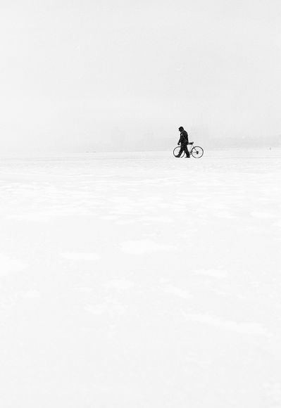 white solitude: being out with your bike in winter | winter . Winter . hiver | Photo @ Brummer Design |