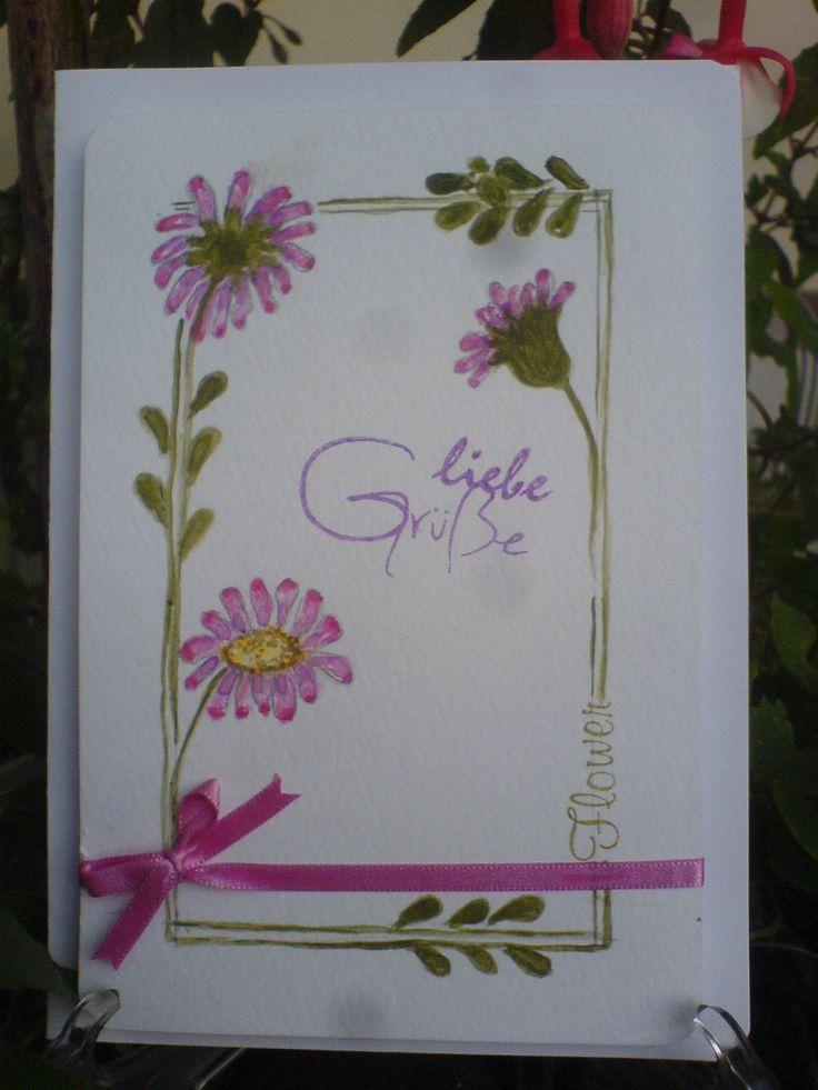 Aquarell Wiesenblume Card