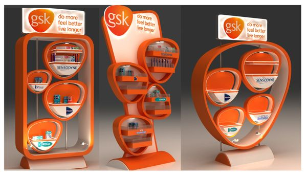 GSK Internal Product Display (Egypt) by Shimaa El-feky, via Behance