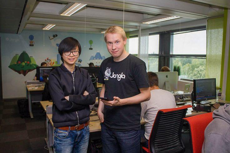 Dan and Tomi at Jongla headquarters in Helsinki