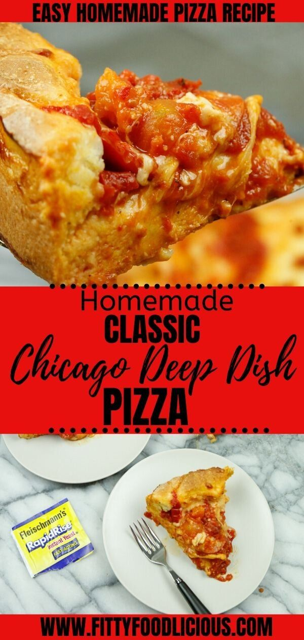 Homemade Chicago Deep Dish Pizza Recipe In 2020 With Images