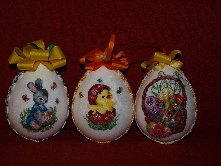 Vyšívané veľkonočné vajíčka od -Lucis - Veľkonočné dekorácie   Artmama.sk
