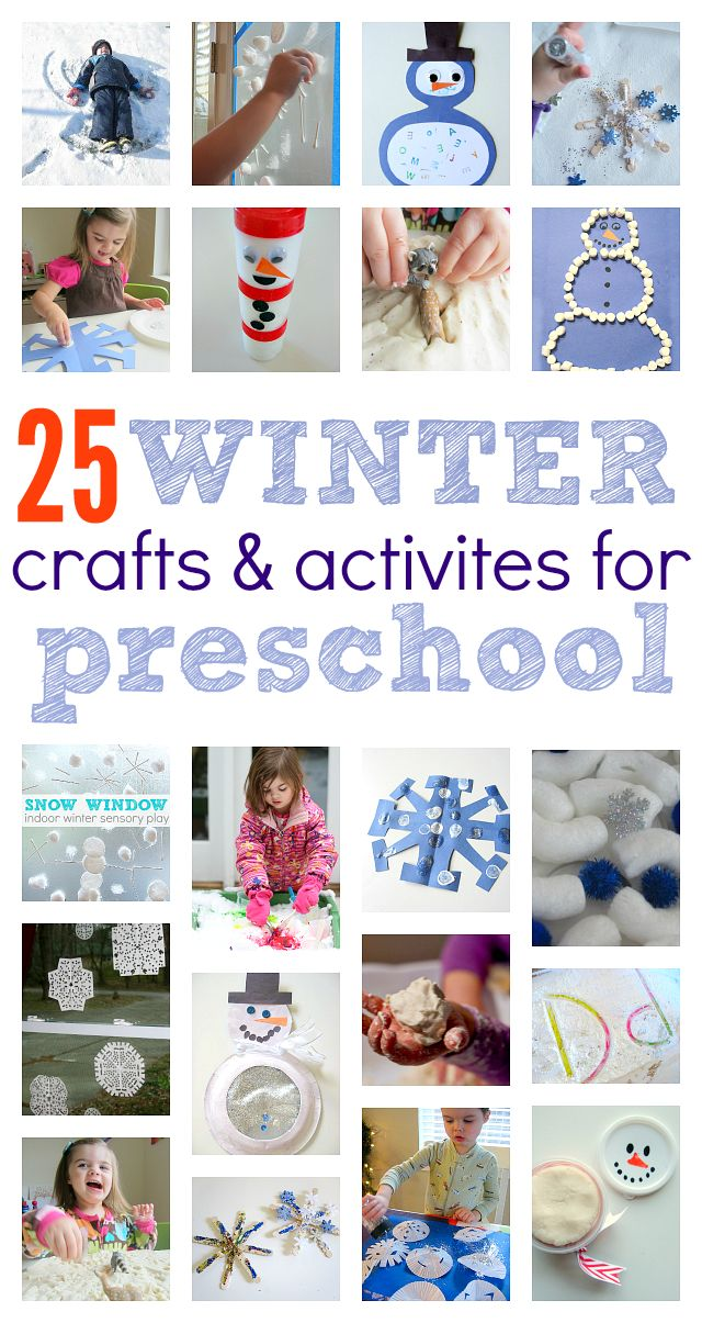 Great list of winter crafts for preschool . Winter sensory play ideas and more for preschool!