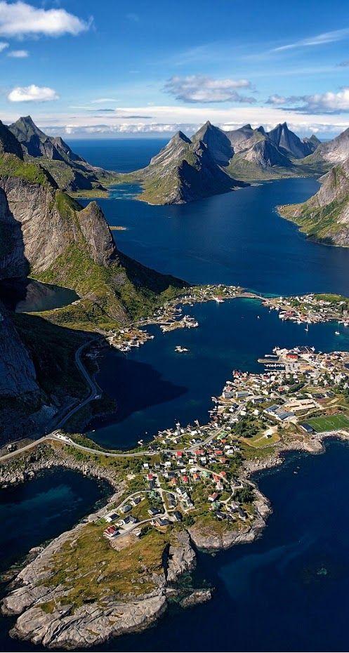 Norway - awe-inspiring views of the spectacular terrain #birdseyeview...x