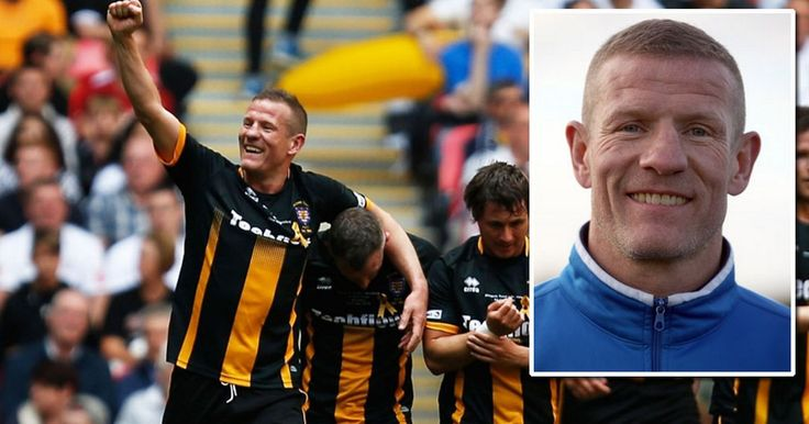 Morpeth Town FC Player Chris Swailes over came 4 heart surgeries to lift FA Vase.