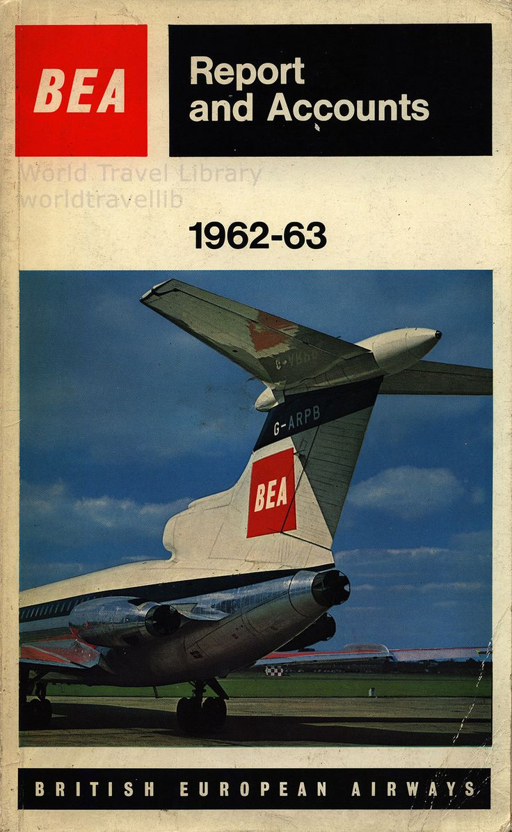 BEA British European Airways Report and Accounts 1962-63_1, Trident | Ceased in 1974, merged with BOAC - British Overseas Airways Corporation to form British Airways