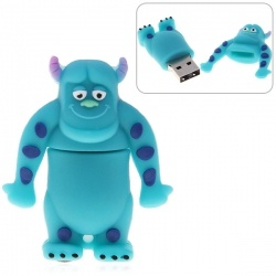 4GB Fashionable Orangutan U Disk Silicon Protection USB Flash Drives Memory (Blue)