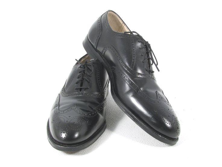 FLORSHEIM IMPERIAL Comfortech Men's Black Leather Wingtip Brogue OXFORD 10.5 C #FlorsheimImperialComfortech #Oxfords #Formal