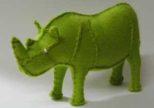 How to make stuffed rhinoceros felt