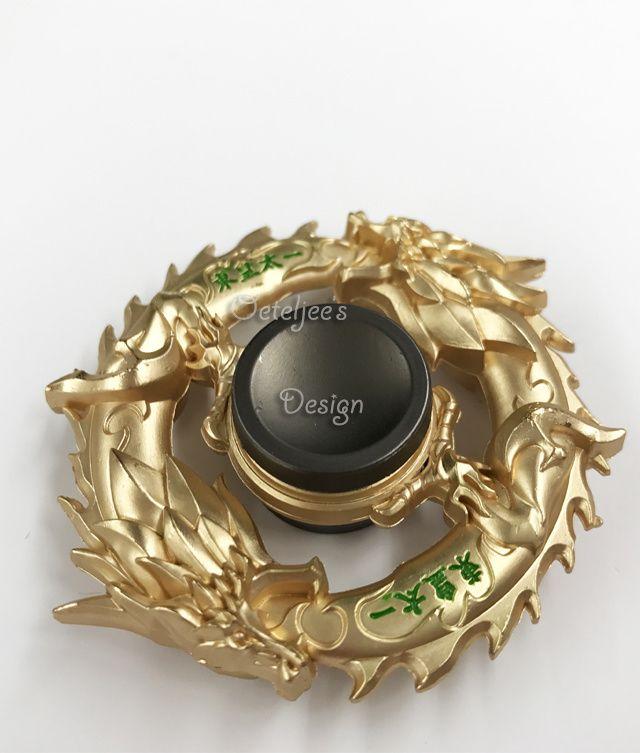 Fidget hand spinner metaal draken goud