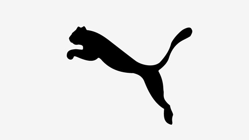 Puma Logo Design, Its simple but really effective, most effective logo's are simple and have a simple colour scheme which the puma logo has, a white background and the famous 'black cat'