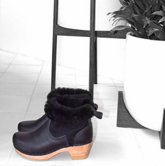Shearling Boots - Clog Boots by Sven Clogs http://www.svensclogs.com/clog-boots-1.html?limit=all