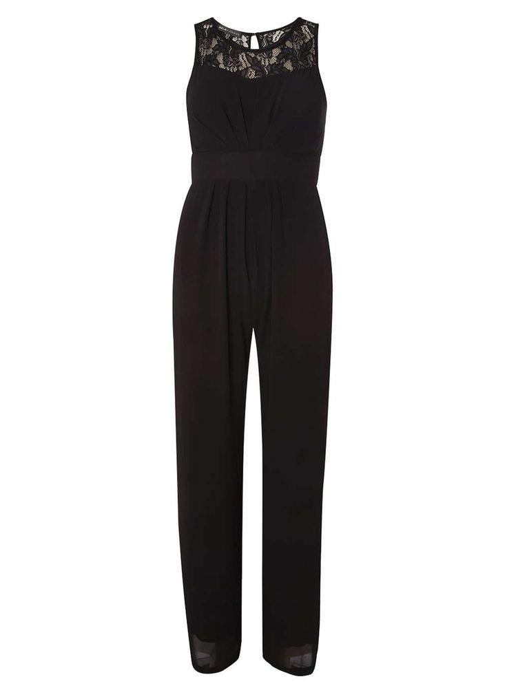 Dorothy Perkins Womens *Mela Black Lace Jumpsuit- Black DP61140641 Mela black lace sweetheart jumpsuit. Length 155cm. 100% Polyester. Machine washable. http://www.MightGet.com/january-2017-13/dorothy-perkins-womens-mela-black-lace-jumpsuit-black-dp61140641.asp