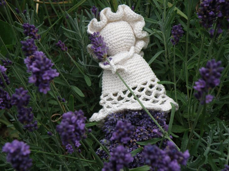 My crocheted lavender doll