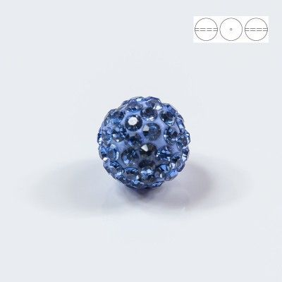 Discoball Bead 12mm Light Sapphire  Dimensions: 12mm Stones which were used in a ball are from Preciosa Company  1 package = 1 piece
