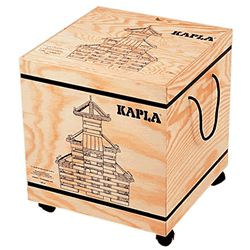 Kapla 1000 Piece Set in Wood Box with Wheels