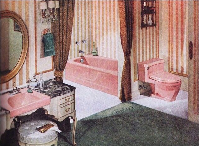 11 besten Milestones of Bathroom History Bilder auf Pinterest - badezimmer 50er jahre