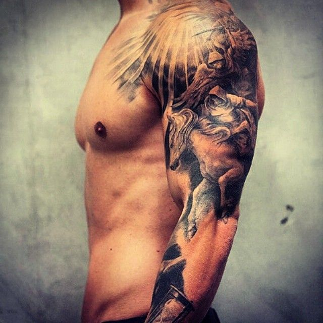 25 best ideas about shoulder tattoos for men on pinterest tattoo for man space tattoo sleeve. Black Bedroom Furniture Sets. Home Design Ideas