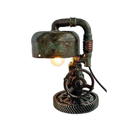Retro table lamps Industrial steampunk Lamp Pipe loft lamp Industrial steampunk lamp Edison lamp Machine age table lamp Steam lamp Cast iron pipe lighting
