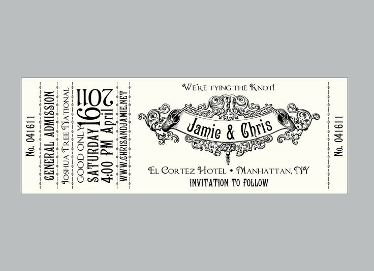 11 best Invites - Becca images on Pinterest Wedding ideas, Cards - blank concert ticket template