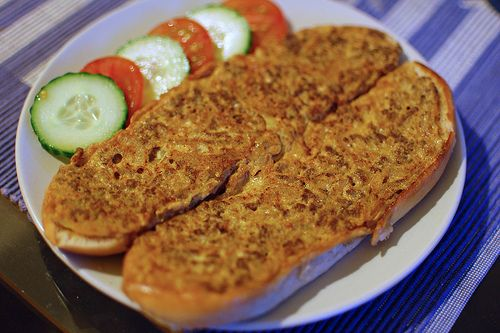 Roti John.. a good Meaty omelette on toasted Long bun.. an Indian or malay street good popular in Malaysia & Singapore